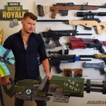 Completed my #FortniteBattleRoyale prop display for my studio! A cool artistic achievement as all hand carved from foam 🙂  @FortniteGame @EpicGames @OMGitsAliA @Ninja  @GassyMexican 😀