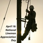 SNEW loves our #linemen! #notallheroeswearcapes