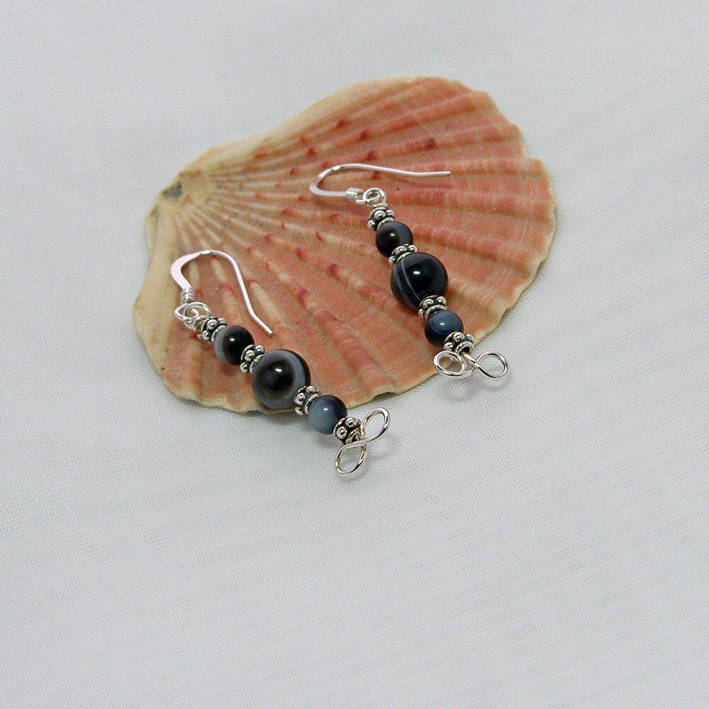 Black Lace Agate earrings #GemstoneEarrings  http:// etsy.me/1Y4vENs  &nbsp;   #Handmade #ukbiz #OnlineCraft #TweetUK #bizclubUK #shopsmall<br>http://pic.twitter.com/WTMmzhlkBi