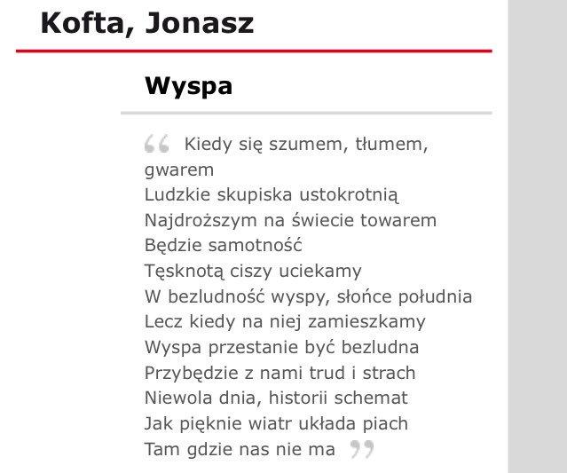Hoppípolla On Twitter Wiersz Na Polskim Byl Cudny