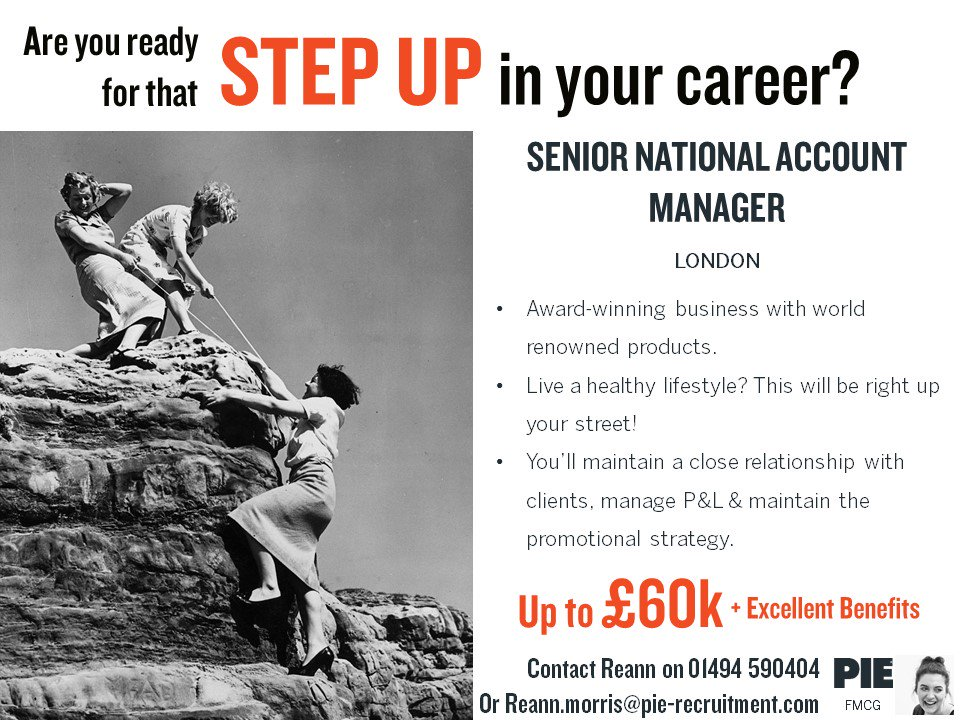 If you&#39;re ready to climb the #career ladder, then this Senior National Account Manager opportunity for an award winning #FMCG business could be just the job for you &gt;&gt;  https:// bit.ly/2J1autN  &nbsp;   #Sales #Recruitment #London #healthy<br>http://pic.twitter.com/xxKUG2cp6W