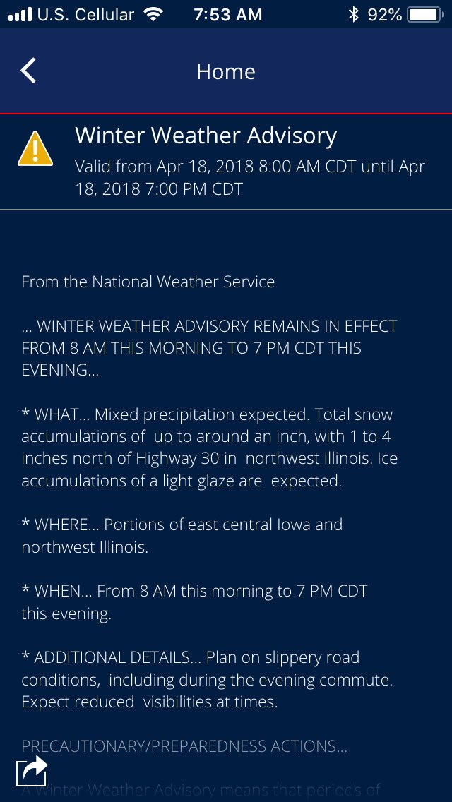Nooo!   Is it just me, or is Mother Nature really pissed off with us-humans?   It's #Suppose2BeSpring #WinterStormWarning <br>http://pic.twitter.com/eFFK1i6mGN