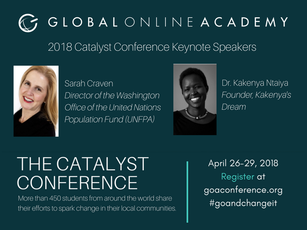 test Twitter Media - BIG NEWS: Our 2018 Catalyst Conference Keynotes are @KakenyaN and Sarah Craven of @UNFPA. Hear from these incredible leaders when the conference opens April 26: https://t.co/NjeUnYBdrZ #goandchangeit #stuvoice #globaled https://t.co/FdeMMOjvv2