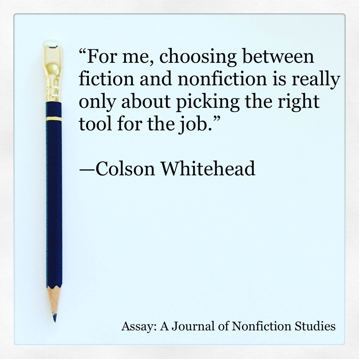 Assay A Journal Of Nonfiction Studies On Twitter Second Cup Of