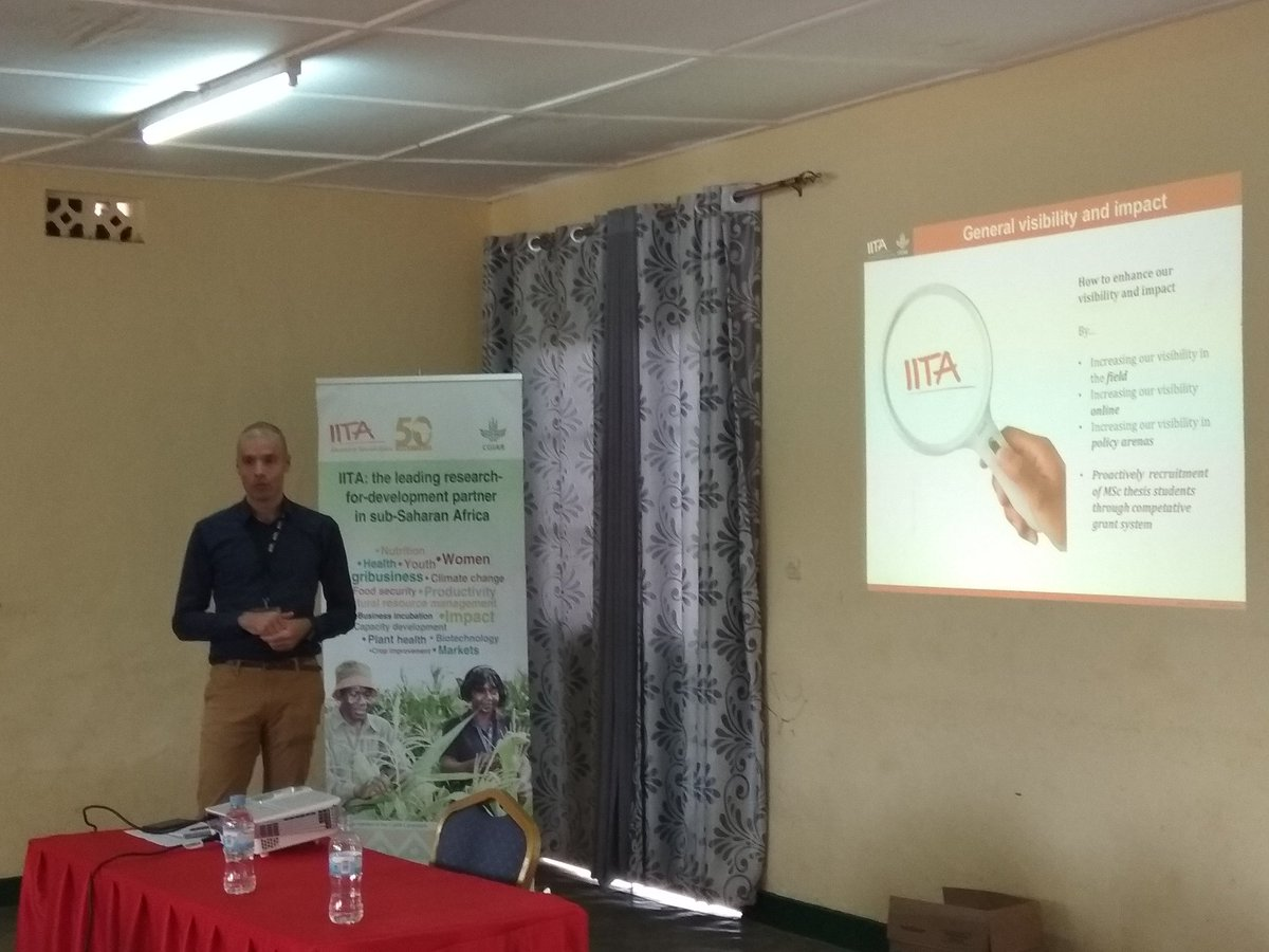 We @IITARWANDA aim to increase #visibility of @IITA_CGIAR @CGIAR #science and #impact in #Rwanda and developed #novel ideas as #studentgrantcompetition to achieve it!<br>http://pic.twitter.com/1XsBf41is9
