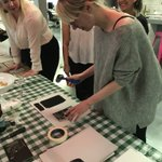 We had such fun last night in our studio workshop with @Linocutboy Here are some of our lovely Bulletproof ladies showing off their skills 👩🎨 #linocut #linoprint #illustration #creative #workshop