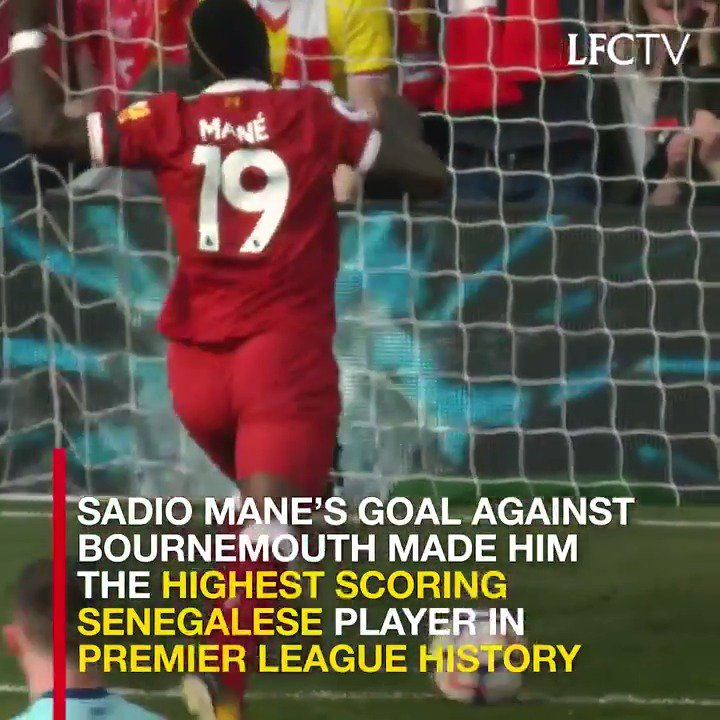 ���� Senegal's highest-scoring @PremierLeague player… ever. ����  It's now 44 goals and counting for Sadio Mane… https://t.co/DDsaDBrSu0