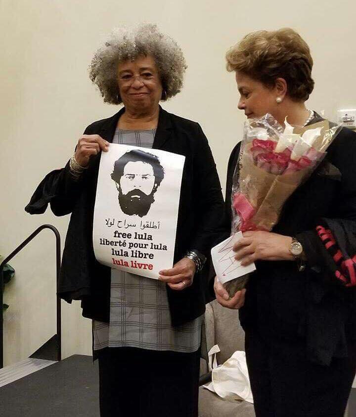 Angela Davis e Dilma Rousseff no Centro de Estudos Latino-americanos da Universidade de Stanford, nos Estados Unidos: