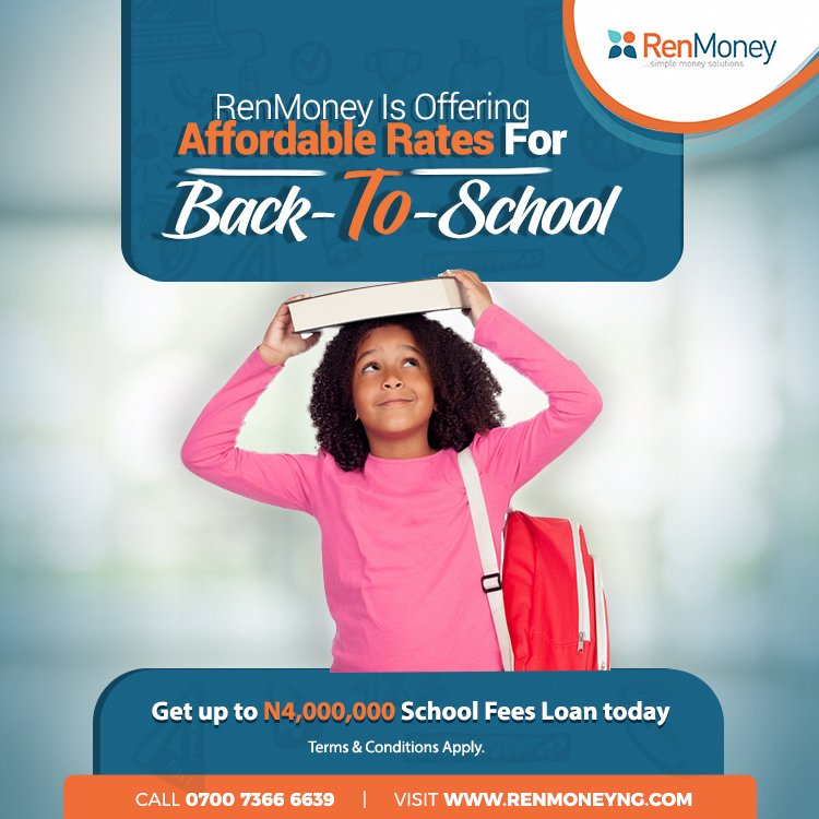 Grab it while it lasts. #BackToSchool loans at affordable rates. #Finance #loans #Back2School <br>http://pic.twitter.com/0drerHBVMT