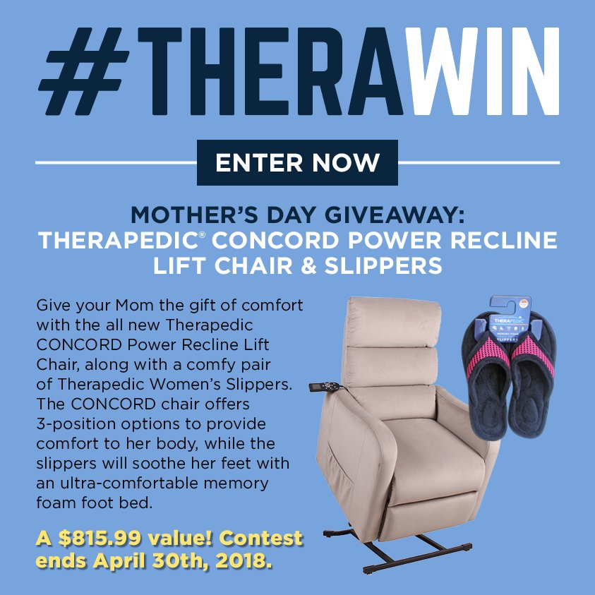 Groovy Therapedic On Twitter Therawin Mothers Day Giveaway Machost Co Dining Chair Design Ideas Machostcouk