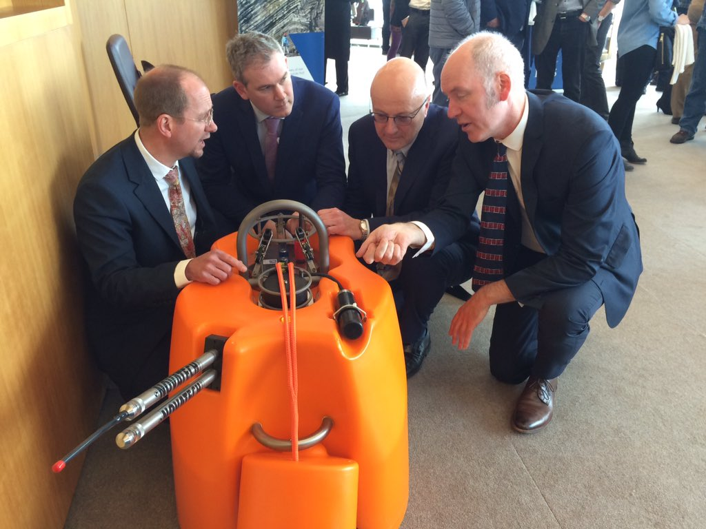 test Twitter Media - Prof. Chris Bean describing the new Ocean Bottom Seismometers at the iMARL launch to @k_verbruggen of @GeolSurvIE @SeanKyneTD and Mark Ferguson of @scienceirel https://t.co/LG6CcHK3KY