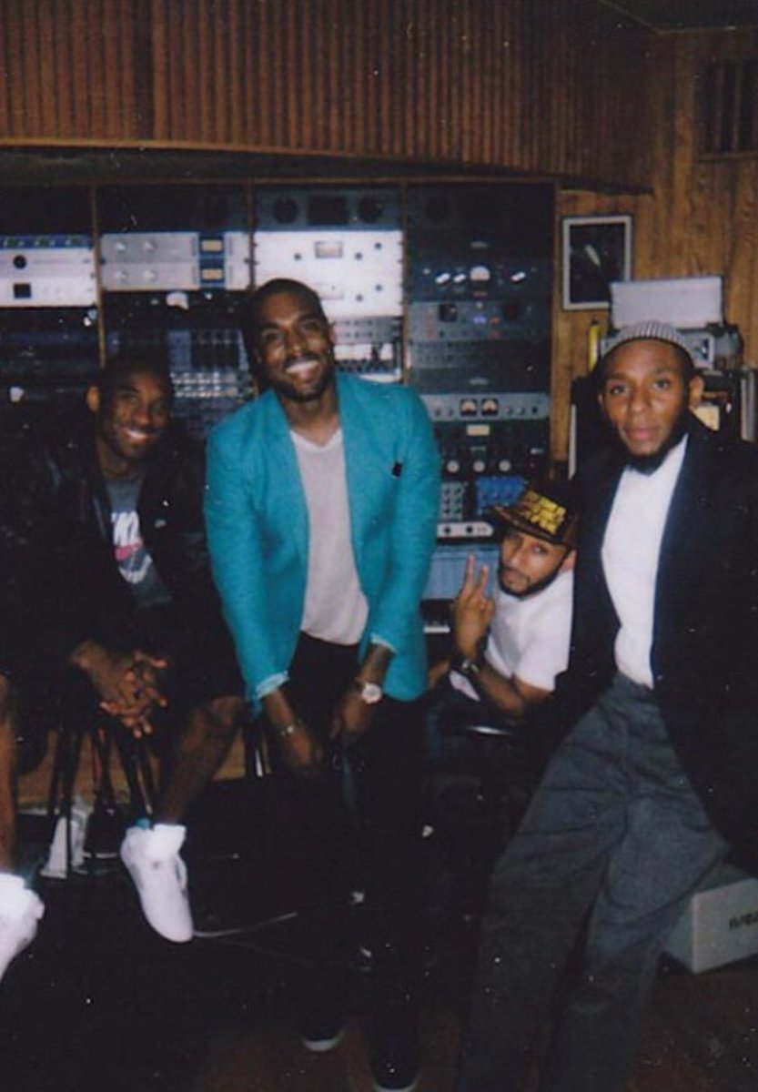 (2010) Kobe, Kanye, Swizz Beatz, and Mos Def in the studio! #Power <br>http://pic.twitter.com/vHFZGoANqP