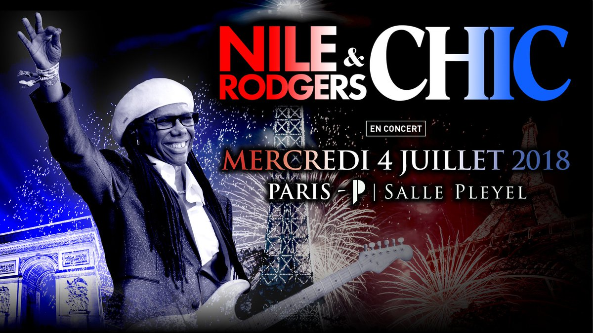 [Prévente exclusive #sallepleyel ] pour les abonnés Pleyel pour @nilerodgers le 4 juillet ! Prévente ici :  https://t.co/e3isKGO6gX  Présenté par @GDP https://t.co/NGjNwC9hEc