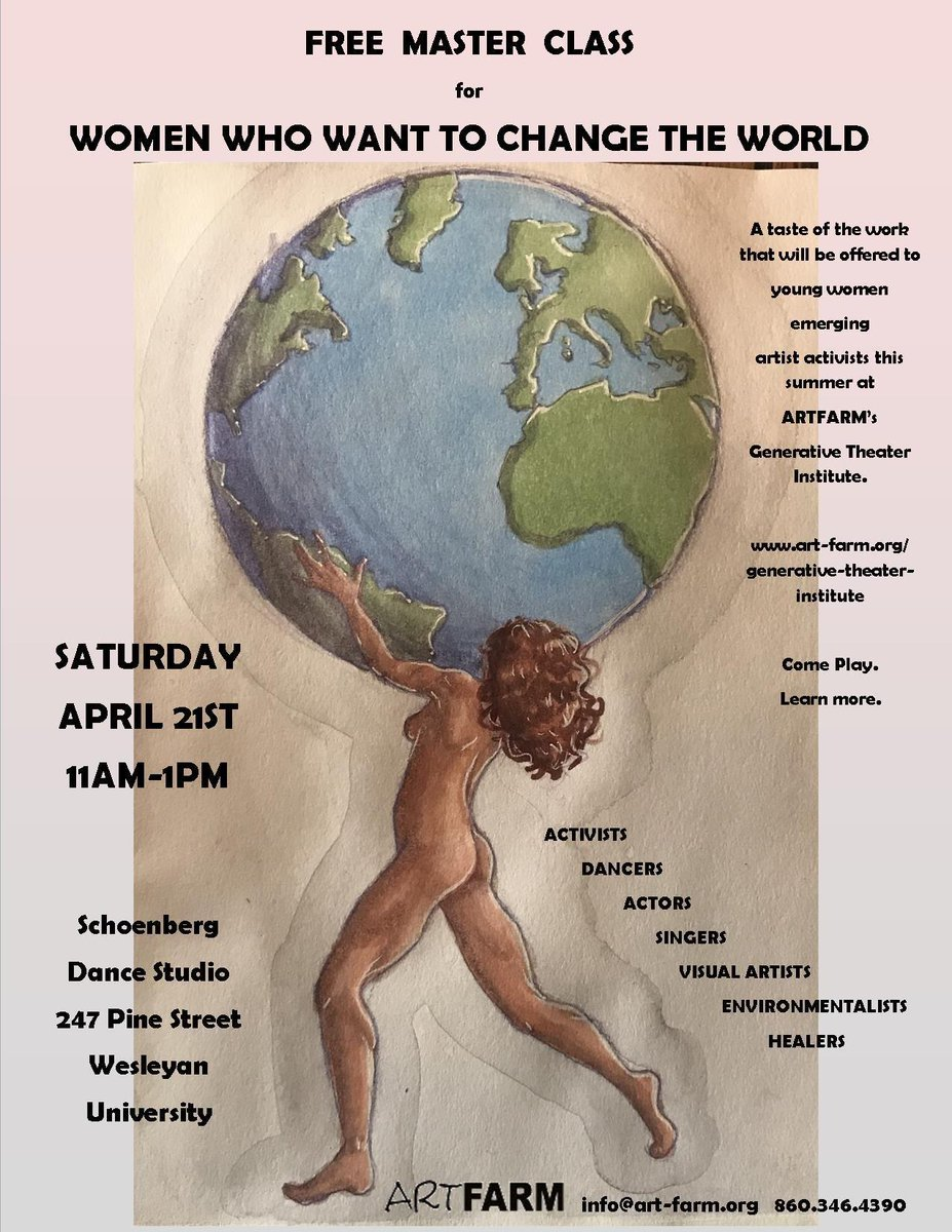 test Twitter Media - This Saturday: @ARTFARMpresents Free Master Class for Women Who Want to Change The World. April 21, 11am - 1pm at the Shoenberg Dance Studio. https://t.co/LqHT82Isla https://t.co/LnnbRQ5ljG