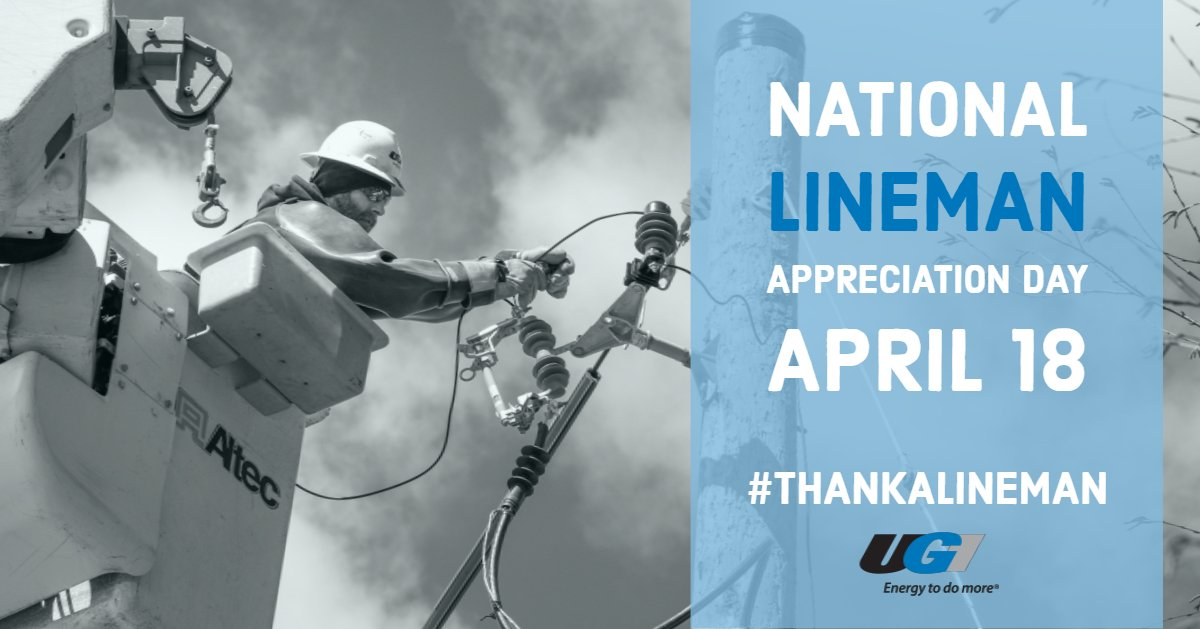 test Twitter Media - Today is National Lineman Appreciation Day! Did you know UGI's linemen work around the clock in a variety of weather conditions to provide electric service for more than 60,000 customers in UGI's Electric Division? https://t.co/VCTNlRkTvq