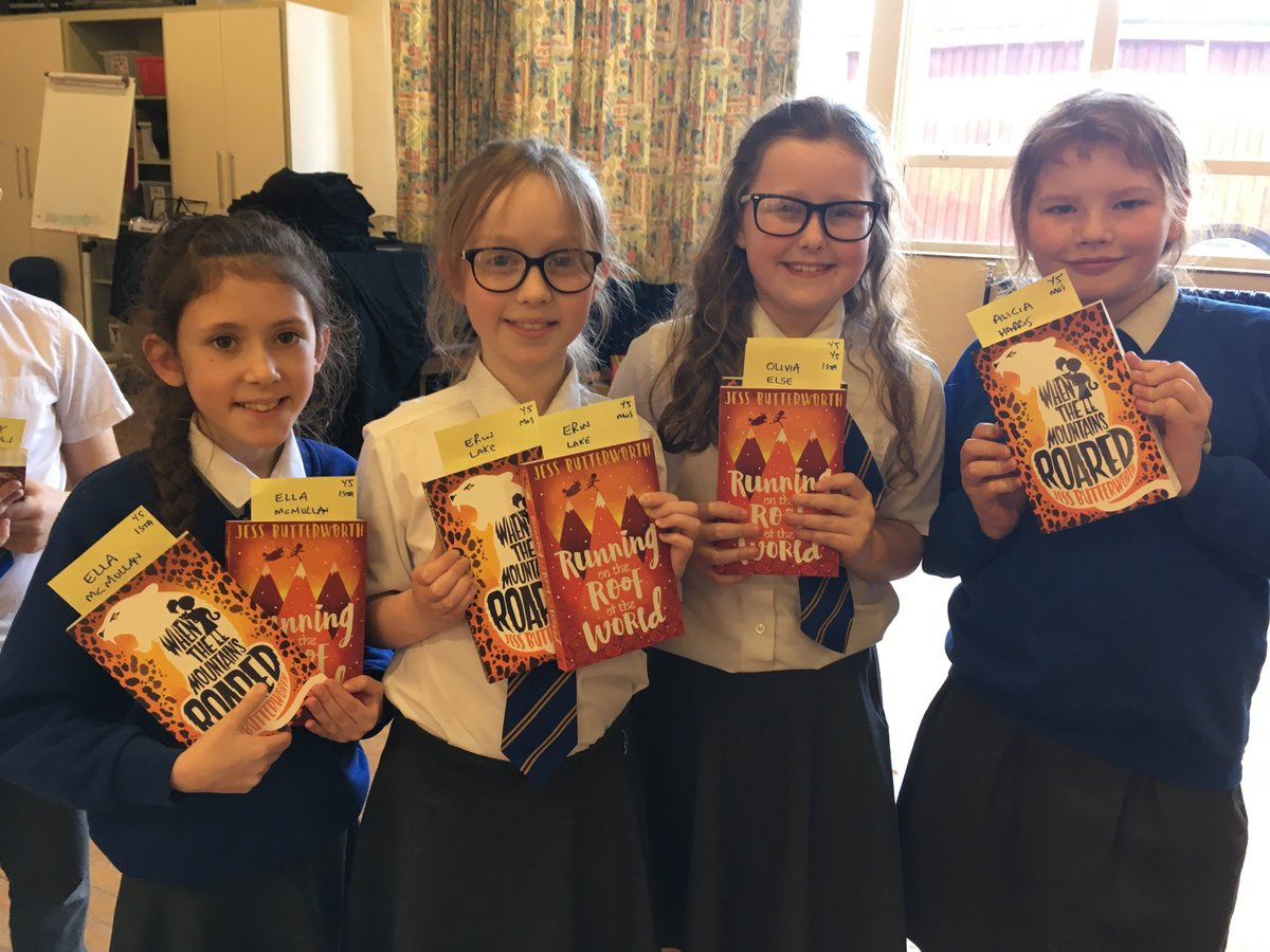Many thanks to @BookaBookshop and @J_T_Butterworth for our inspiring author visit today! Superb messages about being tenacious when editing and taking time when writing. Also, love the yaks!!