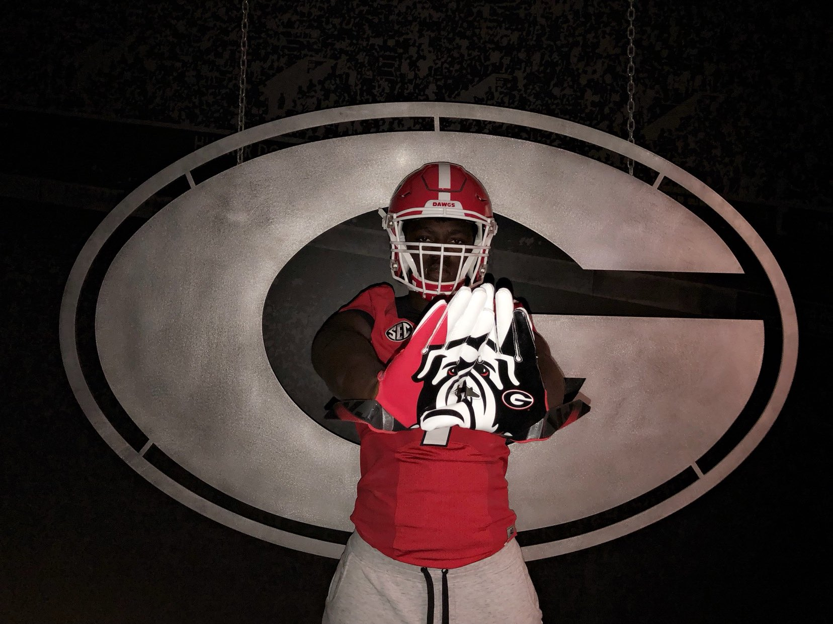 Jonathan Jefferson during an unofficial visit to UGA | Photo from Jonathan Jefferson's Twitter