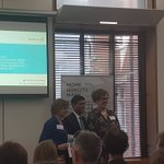 Great to see @mhclg Minister Rishi Sunak standing in for @sajidjavid at thr @UKGBC Healthy Homes reception today.