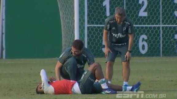 Michel Bastos se lesiona em treino do @P...