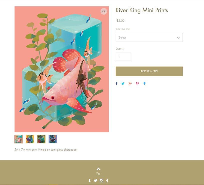 River King mini prints are back in stock~ citrusfoam.com