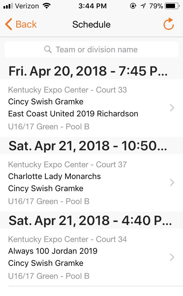 Cincy Swish Gramke schedule for The Classic in at the Expo Center in Louisville this weekend! #exposure #cincyswish<br>http://pic.twitter.com/6WLZGEurll