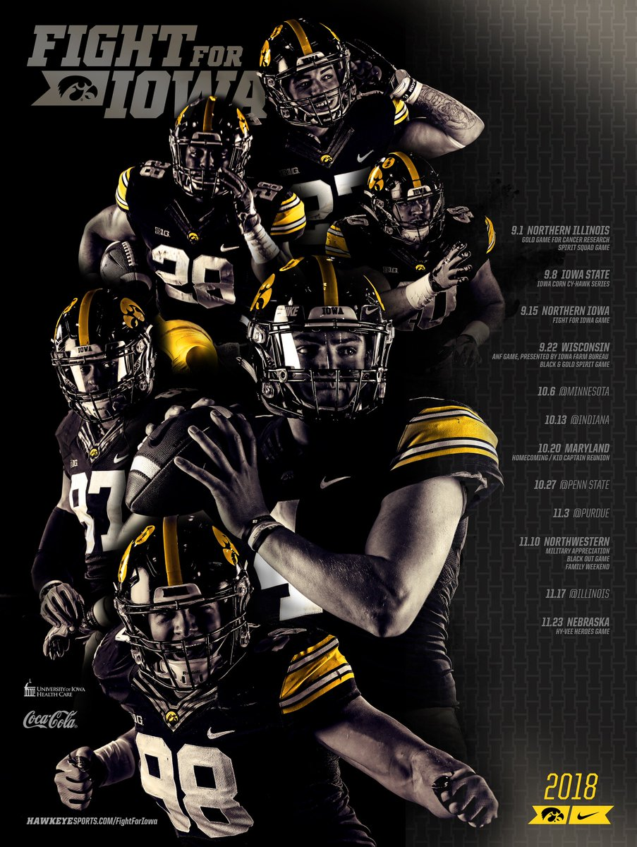 """hawkeye football on twitter: """"pick up the 2018 schedule poster"""