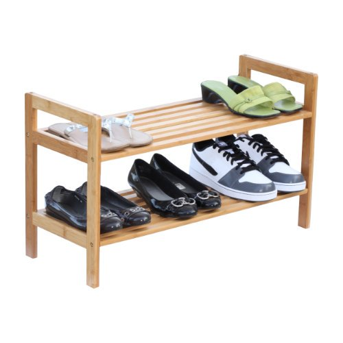 Oceanstar 2-Tier Bamboo Stackable #Shoe #Rack, Multifunctional as it can also hold accessories and bags   http:// ow.ly/Raiv30jwSR3  &nbsp;  <br>http://pic.twitter.com/mgEiE4s1bi