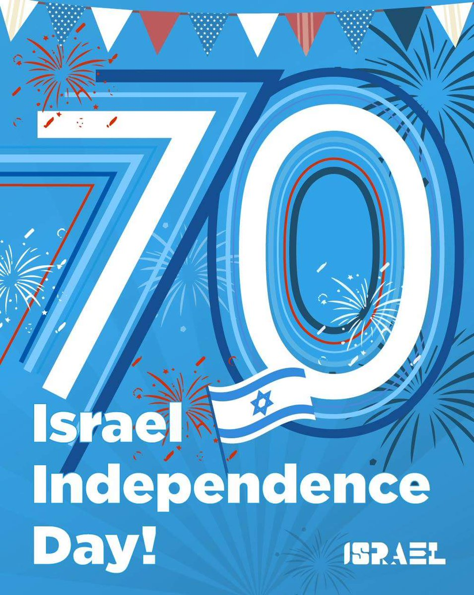 Time flies! It's been 70 years since the State of Israel proclaimed its independence in the Jewish people's ancestral homeland.  Let the #Israel70 celebrations begin!