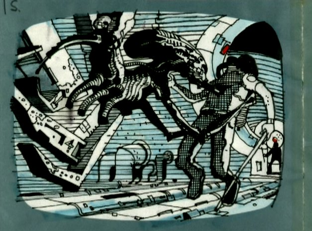#AlienDay countdown J-8. The amazing storyboards of Sir Ridley Scott.