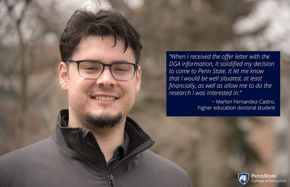 @USCRossier &amp; #CUE alumnus #MarlonFernandezCastro is distinguishing himself as a doctoral student @Penn_state. Dean&#39;s Graduate Assistant, he works on highlighting the ways that Mexican immigrant &amp; Chicano families highly value public education. Read more:  https:// bit.ly/2qKn1dF  &nbsp;  <br>http://pic.twitter.com/ohttfYKnJk