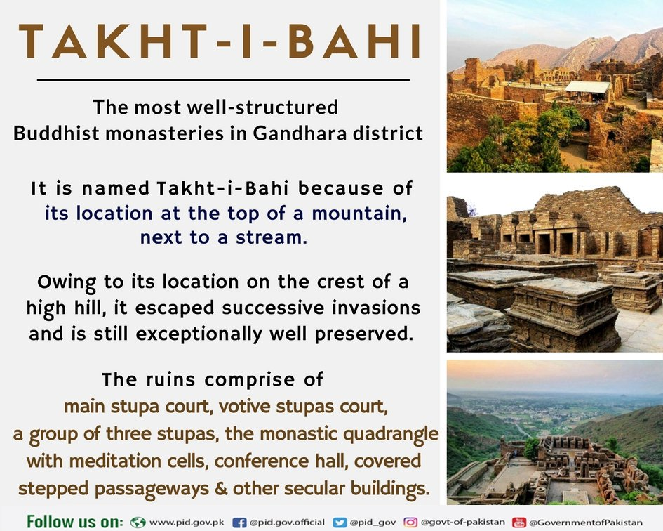 Buddhist Ruins of Takht-i-Bahi is one of the most imposing relics of Buddhism located in #Mardan, Khyber-Pakhtunkhwa. This site was founded in the 1st century CE. #HeritageDay #heritage #UNESCO #Monuments <br>http://pic.twitter.com/BCMWg3qRT7