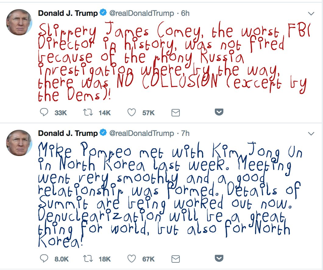 Again, can't recommend enough that you install the Child's Crayon Scrawl Chrome extension for Crazy Grandpa's Tweets