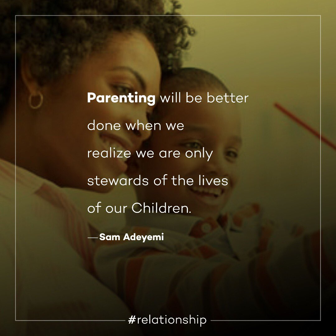 Parenting will be better done when we realize we are only stewards of the lives of our children. #family #parenting #children #stewardship #relationship <br>http://pic.twitter.com/2OSNFezGZA