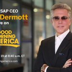 Tune into @GMA tomorrow morning 7–9a to hear SAP CEO @BillRMcDermott discuss how SAP is going to make a difference this #EarthDay2018