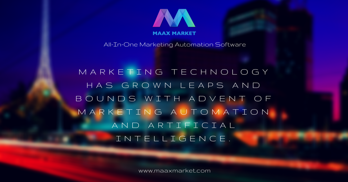 Thanks to technological advances that provide real #business applications, today&#39;s #Marketer are well positioned to serve the new consumer. @MaaxMarket All-In-One #MarketingAutomation software for #SmallBiz and #digitalagency  https://www. maaxmarket.com  &nbsp;  <br>http://pic.twitter.com/i6XKIeH635