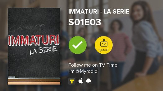 I've just watched episode S01E03 of Imma...