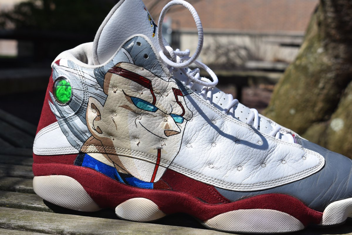 Khalid Rouse On Twitter DBGT Custom Jordan 13s AngelusDirect AngelusBrand Angelusdirect Art Artist Dbz Dbs Dbgt Jordans Sneakers Photography