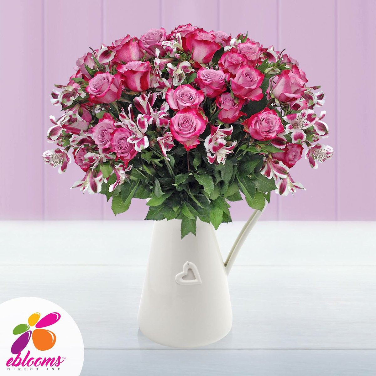Only by Eblooms Direct! Please Visit Us at: https://goo.gl/UpruXR #roses #springtime #love #usa #alstroemerias #kiss #freshflowers #bouquet #floral #engaged ...