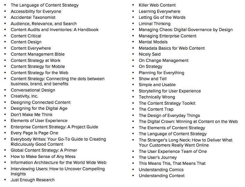 I asked for #contentstrategy book recommendations. You delivered. <br>http://pic.twitter.com/FfJGuiqGJL