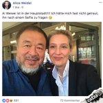 Auf Merkels Spuren: @Alice_Weidel macht Selfie mit Flüchtling! #Weidel #AiWeiwei