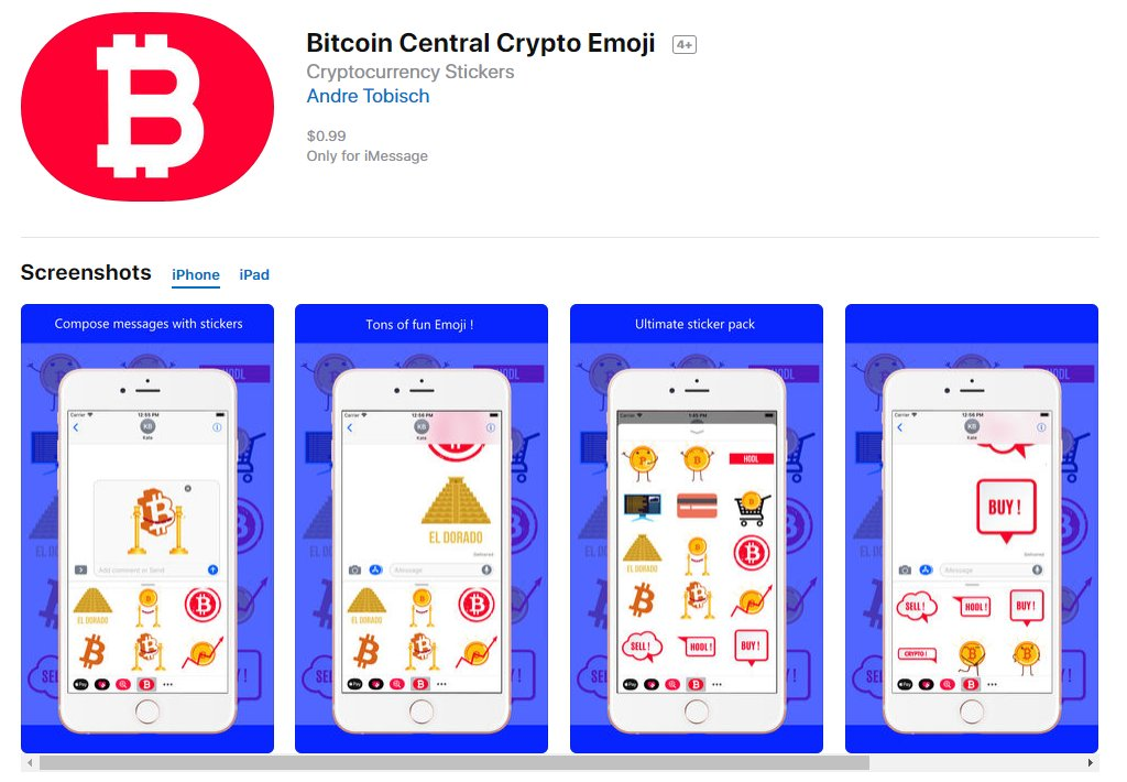 #iOS #iPhoneX   Bitcoin Central Crypto #Emoji   #Stickers #iMessage #Bitcoin #Crypto  #AppStore https:// apple.co/2qKCCdd  &nbsp;  <br>http://pic.twitter.com/lFMmZofvzw