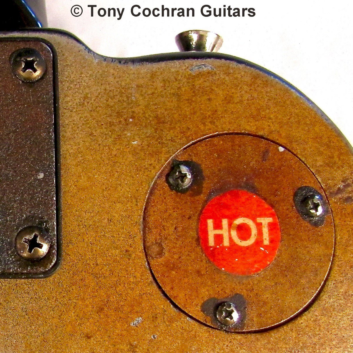 Out Of The Shadows - Tony Cochran newly created guitar is HOT HOT HOT! Watch for another sneak peek. What do you think will make this beauty HOT?  #custom #uniqueguitars #guitarist #art @ArtMakesCbus @GCAC_Cbus @CityScene #steampunk #Ohio #sale #recycle @CCADedu @columbusmuseum