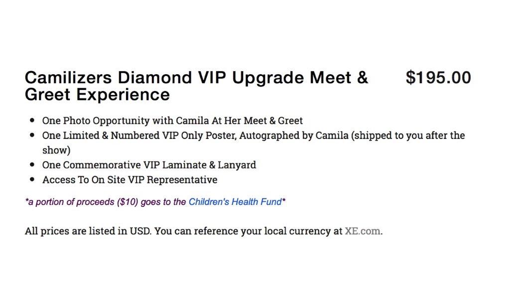 Camila tour alert on twitter buy your camilizers diamond vip 1218 pm 18 apr 2018 m4hsunfo
