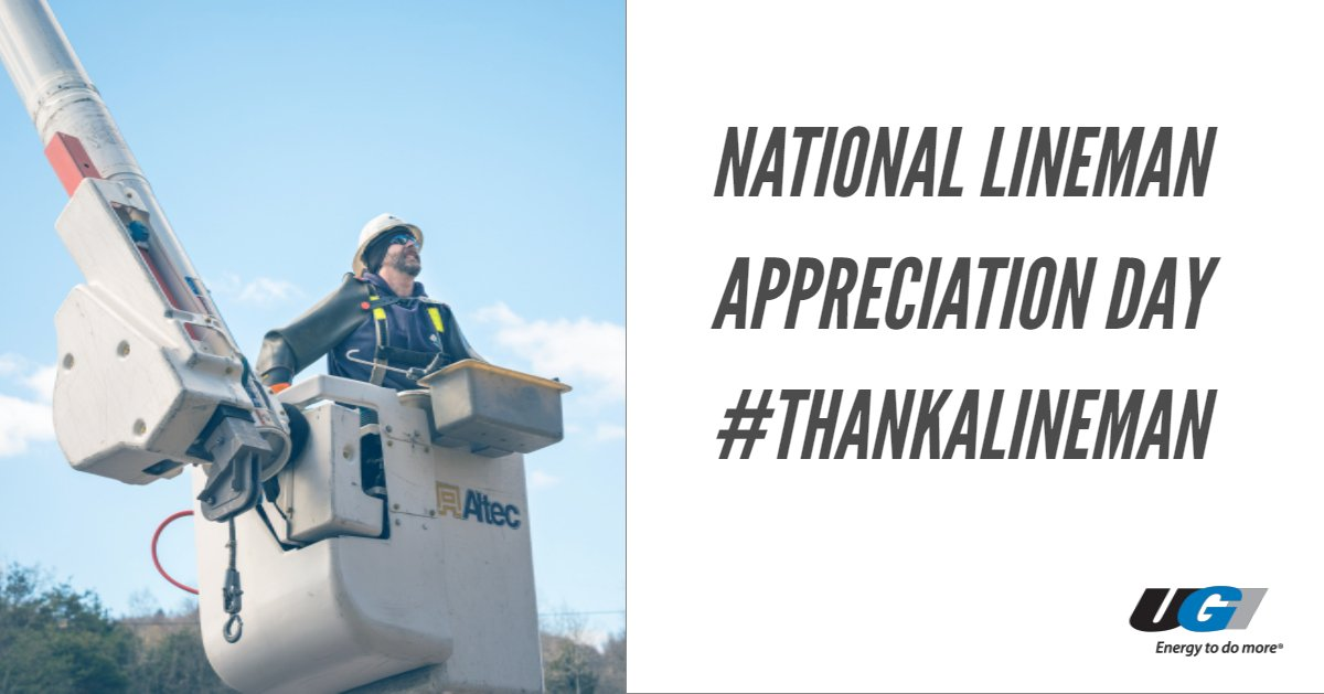 test Twitter Media - Did you know linemen carry an average of 30 lbs of tools and equipment when they're on the job? #NationalLinemanAppreciationDay https://t.co/qDoQ9j06ef