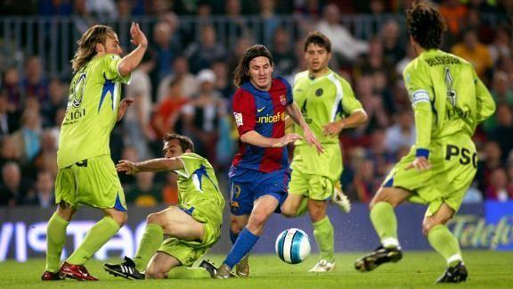 Há 11 anos, Messi fazia golaço à la Maradona pelo Barcelona contra o Getafe; relembre https://t.co/a466NGnzUR