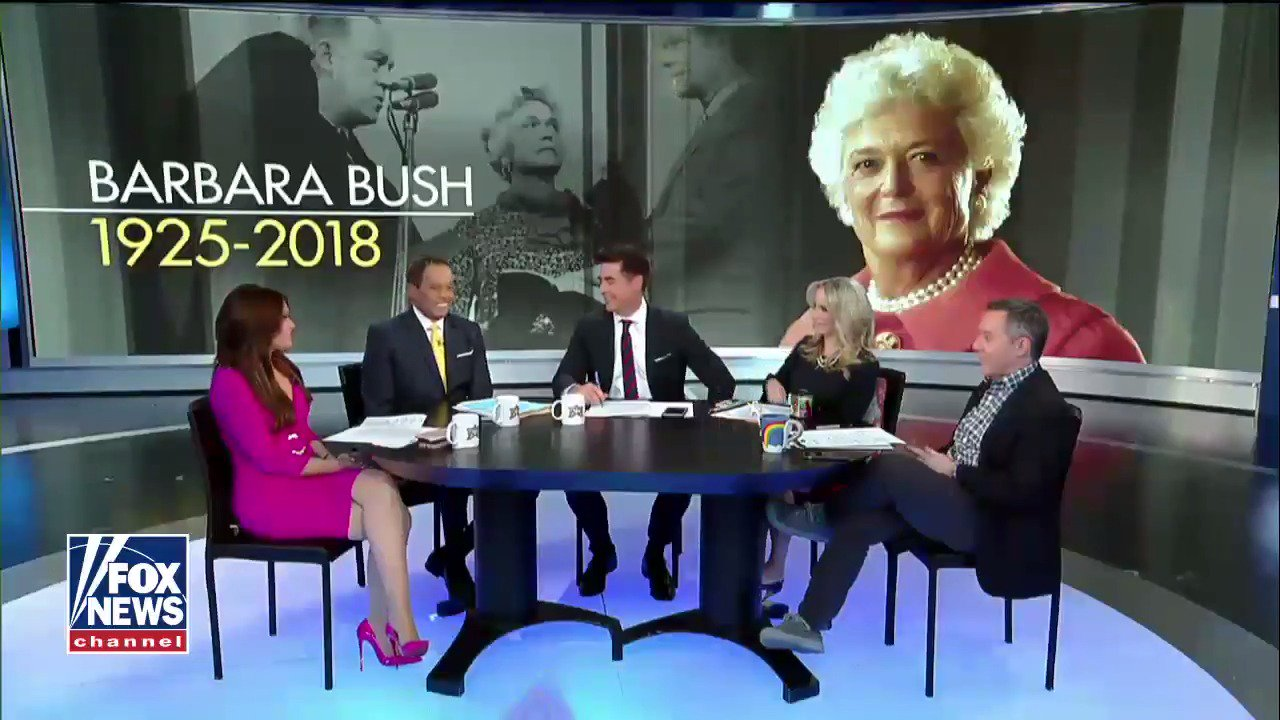 #TheFive remembers Barbara Bush. https://t.co/jFnlGj7h55 https://t.co/h6lBheb1B6
