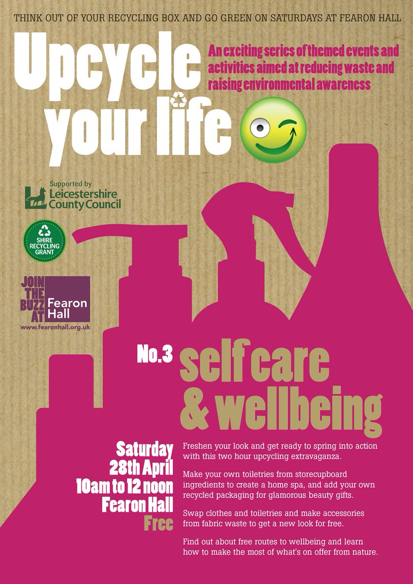 Get ready to #recycle, #make your own toiletries, and swap your old clothes to freshen your look. 10am - noon, 28th April @fearon_hall16. @loughecho @TransitionLboro @TheCropClub @PurplePumpkinLB #zerowaste<br>http://pic.twitter.com/mma9fQHeTS