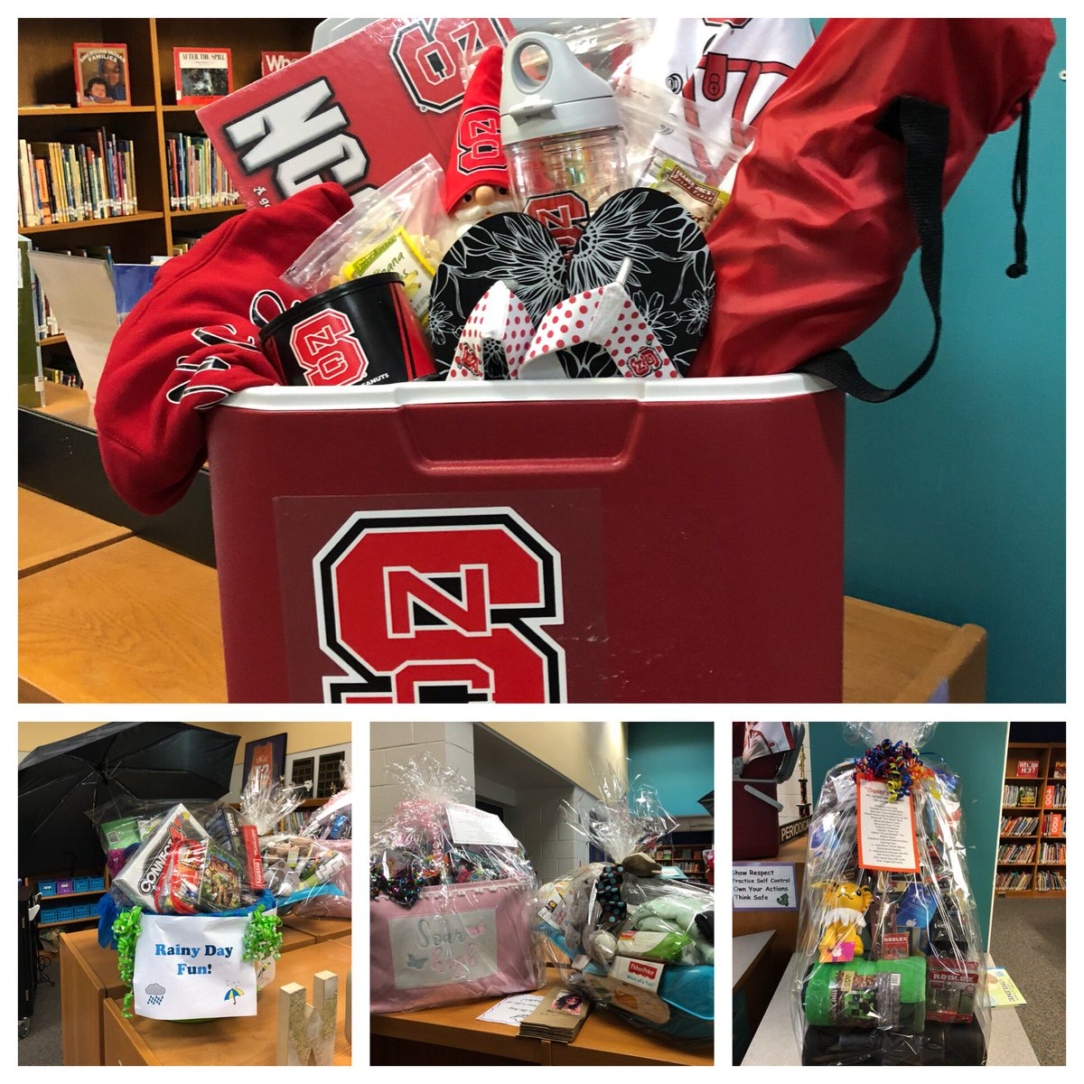 Spring festival this Friday at 5:30pm! Check out these baskets you can win in the raffle! #sports #state #legos #rainyday #pets #spa #carolina #familynight #videogames<br>http://pic.twitter.com/o6KLnYotHh