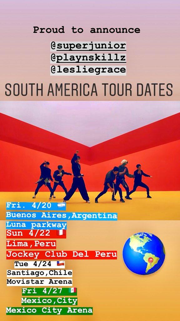 #SouthAmerica Tour w #KPop legends @SJofficial & @lesliegrace begins now! #Argentina #Peru #Chile #mexico https://t.co/rSn6yMpKaX
