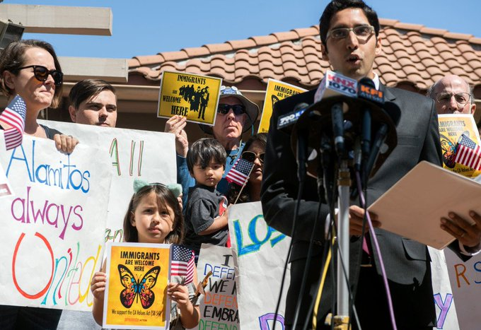 ACLU sues Los Alamitos for rejecting state sanctuary laws